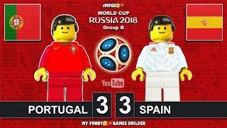 Video Portugal vs Spain 3-3 • World Cup 2018 (15/06/2018) All Goals Highlights Lego Football MP3, 3GP, MP4, WEBM, AVI, FLV September 2018