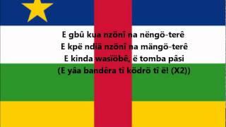 Hymne national de la République Centrafricaine en langue sango / National anthem of Central African Republic in sango language.