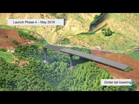 Cannons Creek Bridge construction sequence – animated video