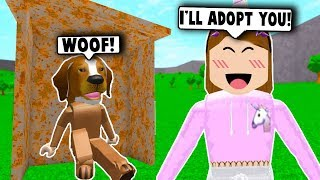 ADOPTING A HOMELESS DOG! (Roblox Bloxburg) Roblox Roleplay