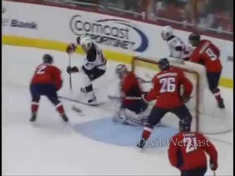 David Clarkson Goal & great pass by Bergfors vs Capitals 10/12/2009