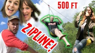 Video CRAZY HOME MADE 500FT ZIPLINE! MP3, 3GP, MP4, WEBM, AVI, FLV November 2018