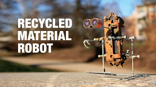 A homemade walking robot made from a broken toy tractor.Find out how to make this one here:https://www.youtube.com/watch?v=abPCQ_7jnTsFollow me on:Facebook:https://www.facebook.com/Homemade.RobotsGoogle+: https://plus.google.com/u/0/+galopante78/