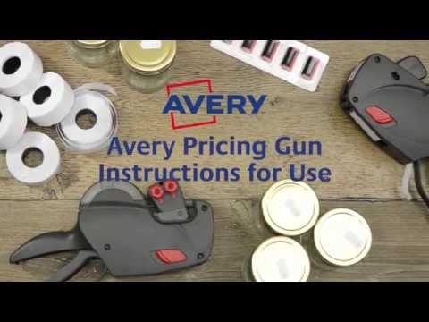 Avery Pricing Gun Instructions