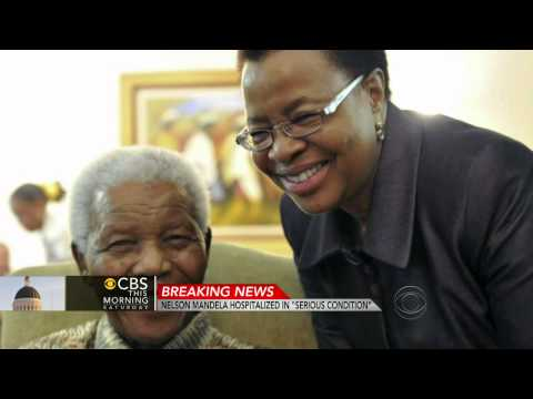Nelson Mandela's recurring lung infection