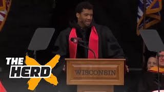 Did Russell Wilson take a shot at his former college coach? - 'The Herd' by Colin Cowherd