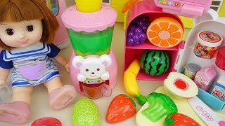 Fruit juice maker and baby doll kitchen play baby Doli house