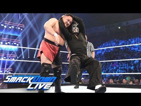 Jeff Hardy vs Samoa Joe- Winner joins Team SmackDown at Survivor Series: SmackDown LIVE, Nov 6, 2018