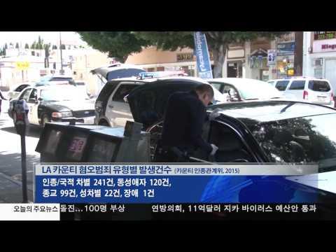 혐오범죄 7년만에 증가  9.29.16 KBS America News