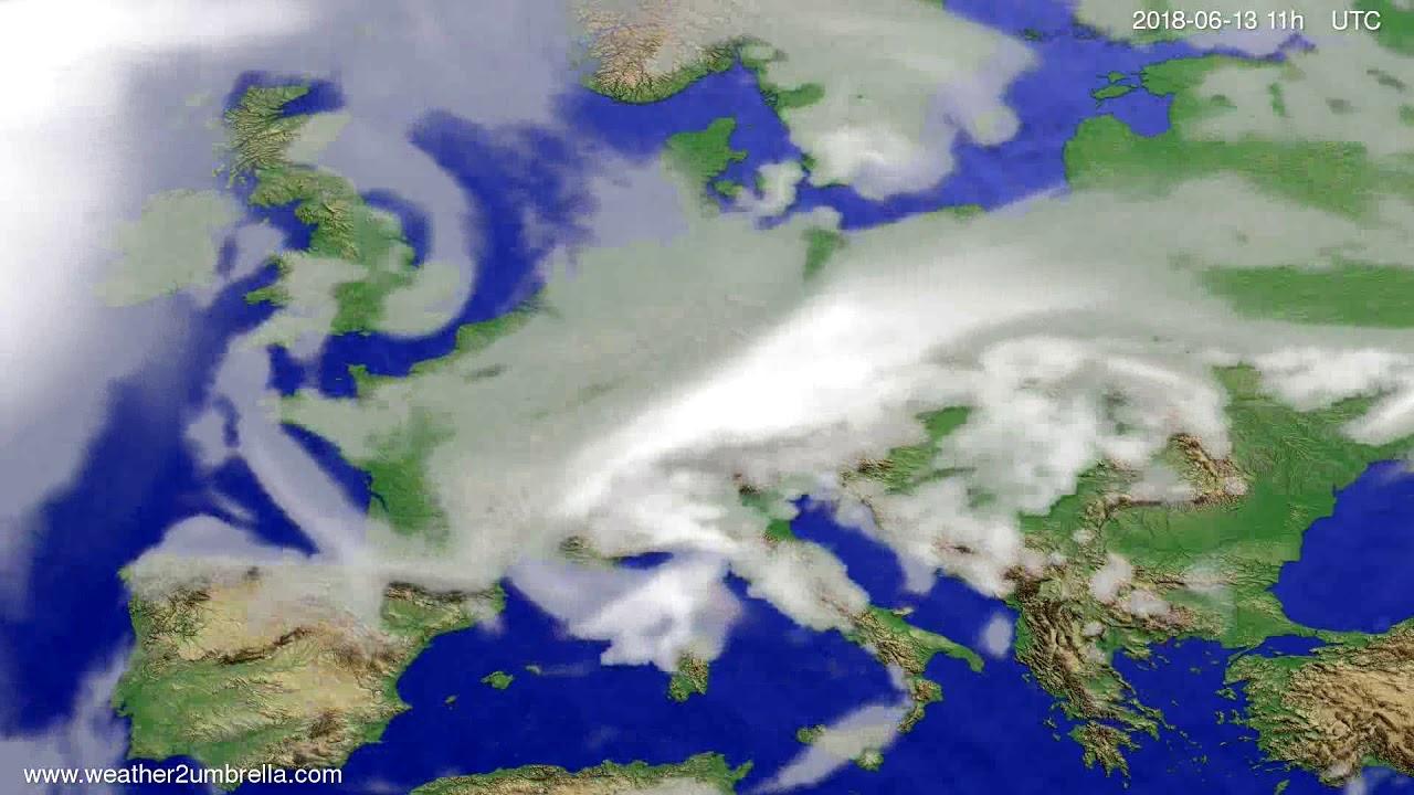 Cloud forecast Europe 2018-06-10