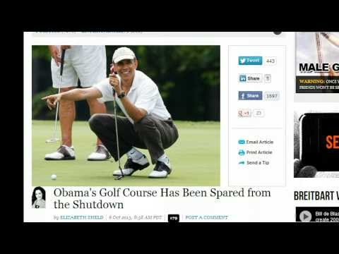 Obama's Golf Course Stays Open While People Kicked Out Of Their Homes!