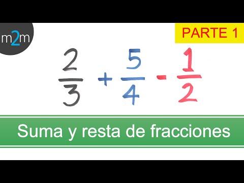 Addieren und Subtrahieren Brüche mit unterschiedlichen Nennern - TEIL 1 [Spanisch]