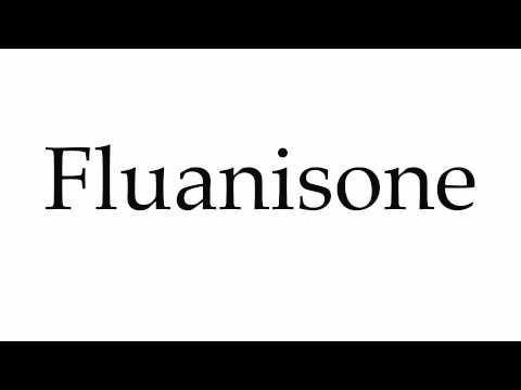 How to Pronounce Fluanisone