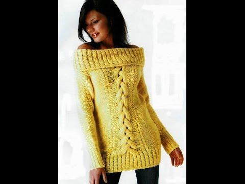 Модный Джемпер Спицами для Женщин - 2018 / Fashion Sweater Knitting needles for Women /Mode Pullover