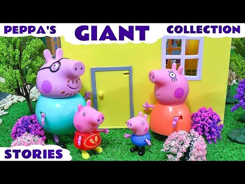 Giant Peppa Pig Story Video Play Doh English Episodes Thomas and Friends Surprise Eggs Pepa Toys