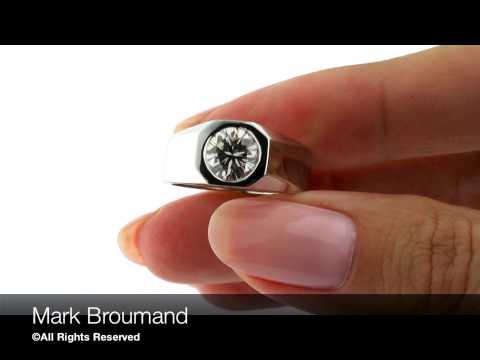 Mark Broumand - Men's 1.69ct Round Brilliant Cut Diamond Wedding Ring
