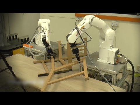 Can these robots build an Ikea chair? (видео)