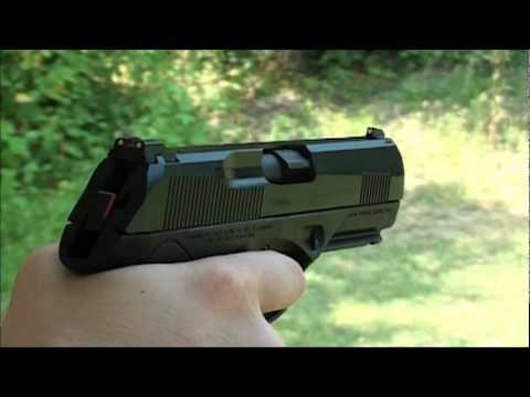 Beretta PX4 Storm Type C 9mm Slow Motion at the range