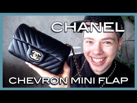 unboxing CHANEL chevron classic extra mini flap (видео)
