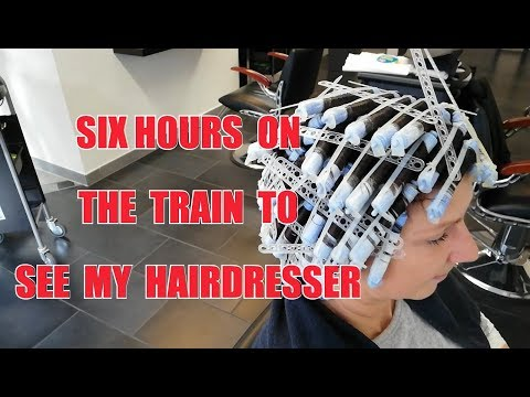 SIX HOURS ON THE TRAIN TO SEE MY HAIRDRESSER PERM DAUERWELLE JOERG MENGEL FRISEURE  1