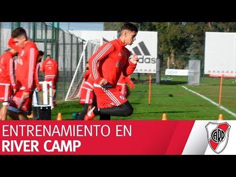 Entrenando para enfrentar al Flamengo