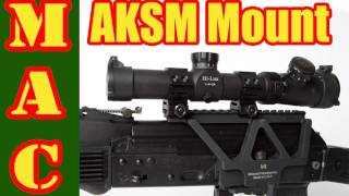 http://www.midwestindustriesinc.com The new Midwest Industries AKSM 1913 rail mount for the AK47 or AK74 riles is a great alternative for mounting optics to ...