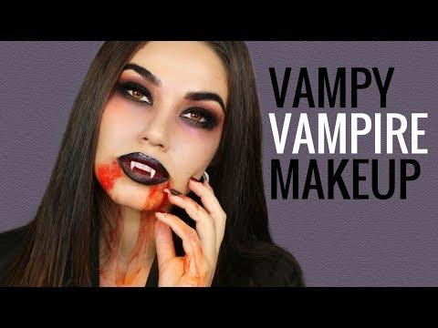 Vampire Halloween Makeup Tutorial | Easy DIY Halloween Costume 2017 | Eman