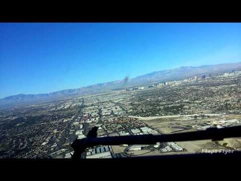 Landing In Las Vegas Flight Deck View HD