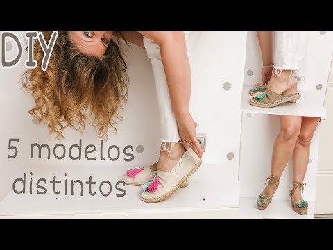 Modelos de uñas - DIY Cómo hacer 5 modelos de sandalias o alpargatas paso a paso /zapatos verano 2019
