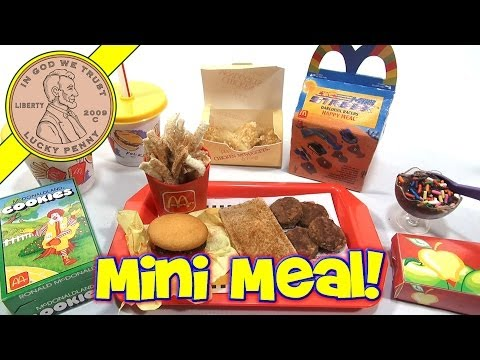 McDonald's Mini Happy Meal – Complete Toy Food Maker Collection!