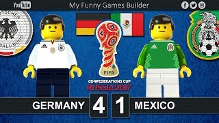 Brick film reconstruction of the Semi-Finals FIFA Confederations Cup Russia 2017 between Germany and MexicoFIFA Confederations Cup Russia 2017 / SemifinalsGermany vs Mexico 4-1Chile win on penalties (0 - 3)- Goretzka 6', 8'- Werner 59'- M. Fabian 89'- Younes 90'+1Fisht StadiumSochi (RUS) 29 June 2017-----------------------------------------------------------------------------------------------------Top Link Competitions:- Champions League • https://www.youtube.com/playlist?list=PLDgxLNKesJl59dj09mFzcegFIPp6WuZzr - Serie A • https://www.youtube.com/playlist?list=PLDgxLNKesJl4TjpWj4a2DVmglqt4p6fUu - LaLiga • https://www.youtube.com/playlist?list=PLDgxLNKesJl59dj09mFzcegFIPp6WuZzr - Premier League • https://www.youtube.com/playlist?list=PLDgxLNKesJl7i36gCR5CicjPy_wRCDYuO - FIFA World Cup • https://www.youtube.com/playlist?list=PLDgxLNKesJl6D9GsBdjq3lngqH-AYc8EvTop Link Club:- Real Madrid CF • https://www.youtube.com/playlist?list=PLDgxLNKesJl56wTYUI1DoIGPoQHYzI9vk - FC Barcelona • https://www.youtube.com/playlist?list=PLDgxLNKesJl495fjfDEcLABBuWTAhB5L1 - Chelsea • https://www.youtube.com/playlist?list=PLDgxLNKesJl7bYGLGK3YuzDiq_2_nAPEA - Manchester United • https://www.youtube.com/playlist?list=PLDgxLNKesJl6HKGMfEMxhRpAHfJMeNDom- Juventus FC • https://www.youtube.com/playlist?list=PLDgxLNKesJl7_LsTYvAWQMlpIA6rJ32Hm - AC Milan • https://www.youtube.com/playlist?list=PLDgxLNKesJl5lOf_KfRfmP0Cciwhpr4cR - FC Inter • https://www.youtube.com/playlist?list=PLDgxLNKesJl6ccUhR3yipMwKRh44WQR10 - SSC Napoli • https://www.youtube.com/playlist?list=PLDgxLNKesJl6hHHfUC1qhA_mxbIf8h-eQ - AS Roma • https://www.youtube.com/playlist?list=PLDgxLNKesJl4q9am3RuaTzjKa3TJHgEHo Top Link Finals: https://www.youtube.com/playlist?list=PLDgxLNKesJl4RZ4B0njyFrWB9Ayb7-EYF-----------------------------------------------------------------------------------------------------LEGO® is a trademark of the LEGO Group of companies which does not sponsor, authorize or endorse this channel.