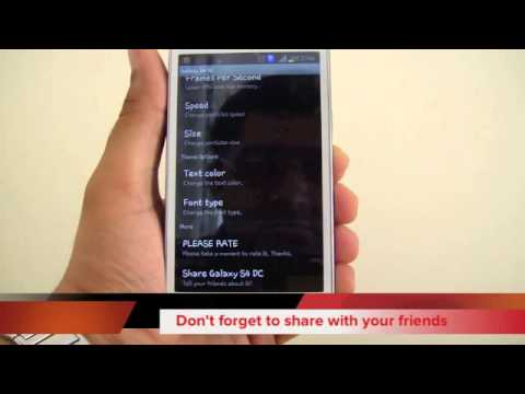 Video of Galaxy S4/S5 Digital Clock LWP