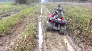 10. Daniel on his Kawasaki brute force battery operate