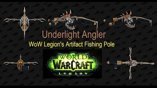 This is the full length of the farm for Underlight Angler - The new artifact fishing pole in WoW Legion