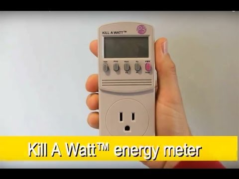 meter - Have you heard of the kill-a-watt meter? This handy gadget can show you what is using all the electricity in your home! See the Kill A Watt meter in action a...