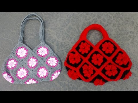 Granny Square Bag Crochet Tutorial Part 1 of 3 - Joining the Granny Squares