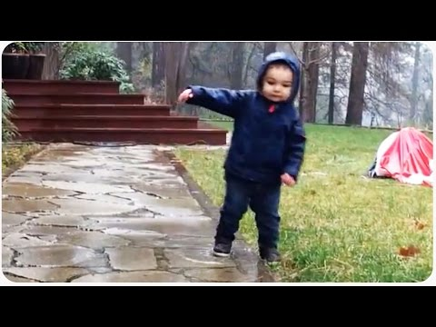 Kid Loses Balance In Rain Puddles | Balancing Act