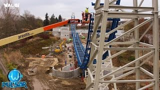 Time-lapse construction Pulsar -  New World Premiere 2016 - Walibi Belgium