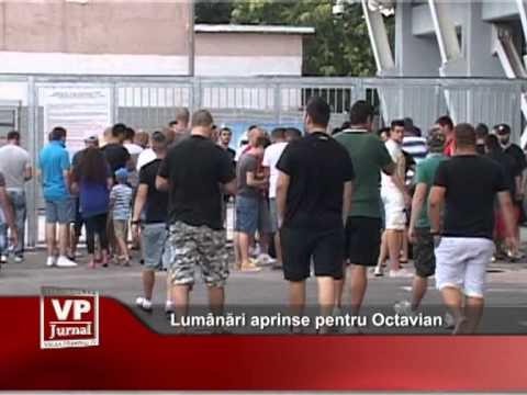 Lumânări aprinse pentru Octavian
