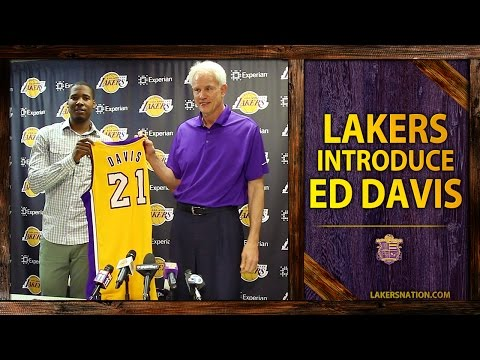 Video: Ed Davis' Lakers Introdcutory Press Conference