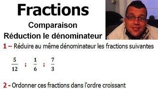 Maths 6ème - Fractions comparaison et réduction le dénominateur Exercice 10