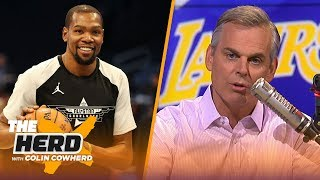 Colin Cowherd on player mobility, says KD can surpass LeBron if he stays with GS | NBA | THE HERD by Colin Cowherd
