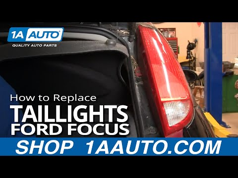 How To Install Repair Replace Broken Taillight Ford Focus 3 door 00-04 1AAuto.com