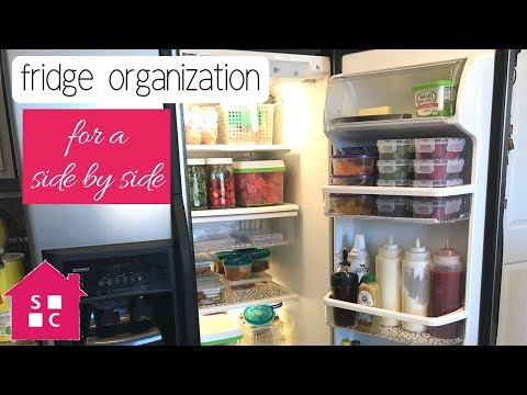 Easy Fridge Organization 2018 (for A Side By Side Fridge)