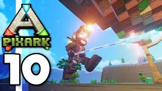 PixARK • The Best Melee Weapon?! Epic Castle Tower! (Ep.10)