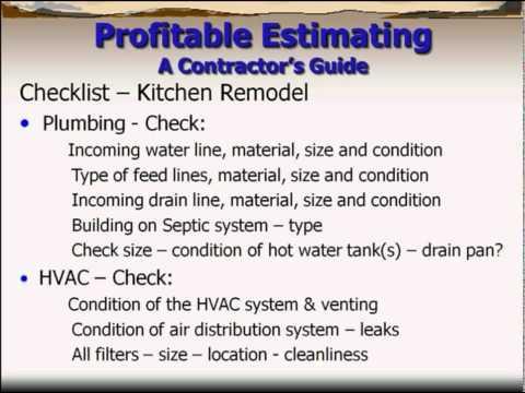 Plumbing Estimate Software
