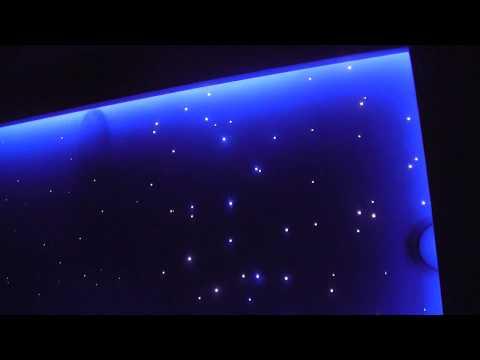 Profil do taśm LED na suficie z gwieździstym niebem