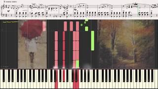 Дождь идёт (Танго) (Ноты и Видеоурок для фортепиано) (piano cover)