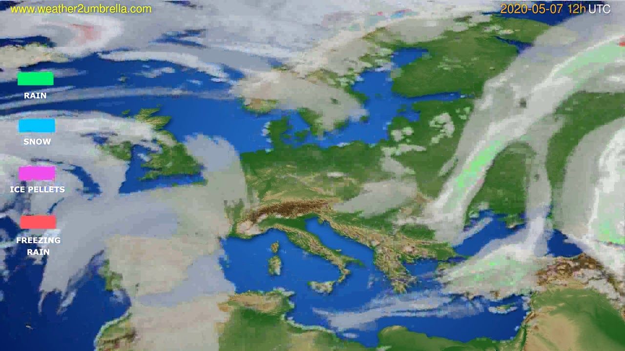 Precipitation forecast Europe // modelrun: 00h UTC 2020-05-07