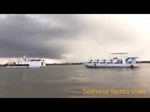 Du Thuyền Ngựa Biển - Tàu nhà hàng 3 thân & Tàu đáy kính